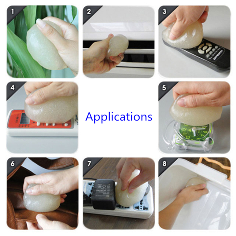 super soft sticky clean glue gum gel cleaning car interior keyboard dust cleaner 11street. Black Bedroom Furniture Sets. Home Design Ideas