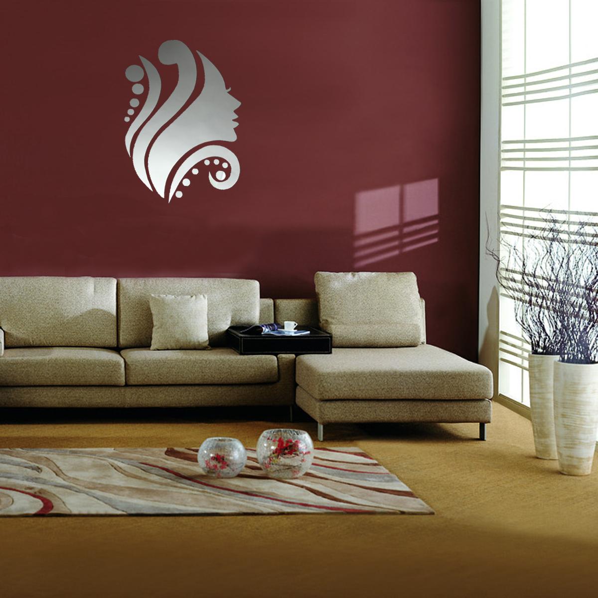 wall stickers decor modern shenra com modern 3d mirror acrylic home room office diy decor art wall