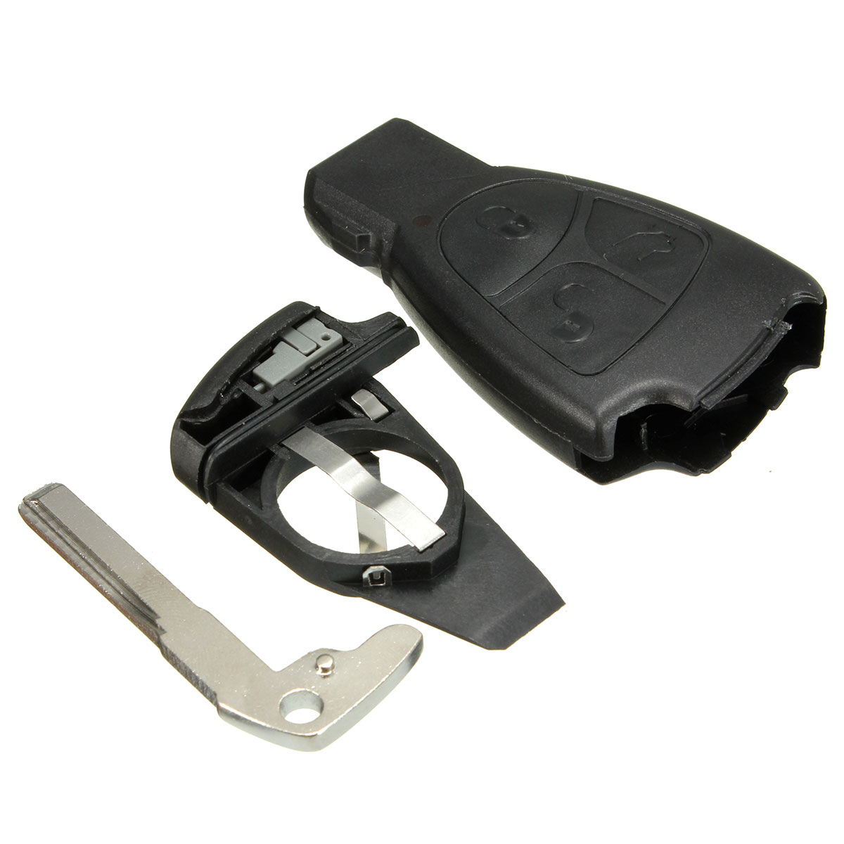 3 button key fob case shell remote for mercedes benz r c e for Mercedes benz key fob battery size