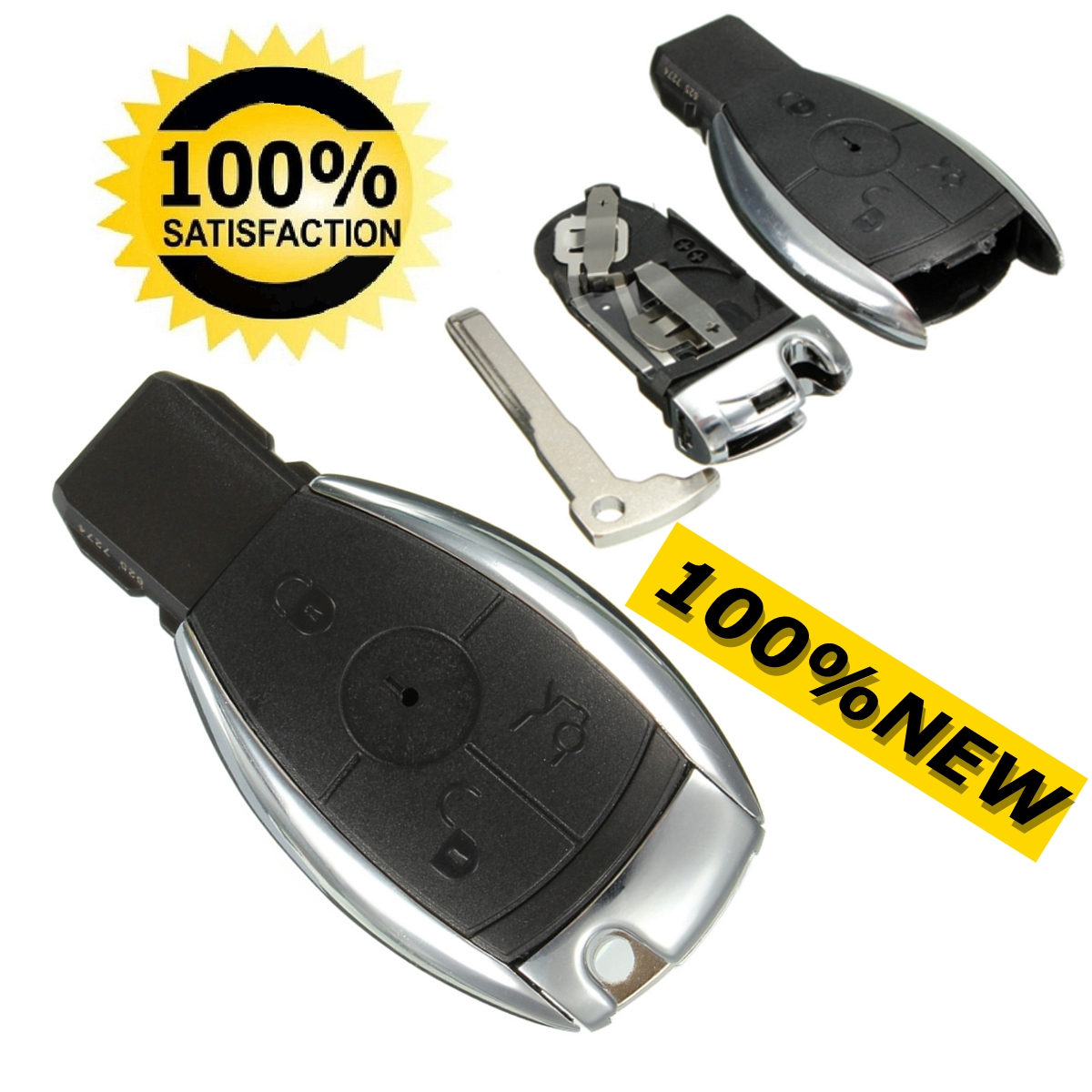 3 button remote key case shell for mercedes benz c e g r s for Mercedes benz key fob battery size