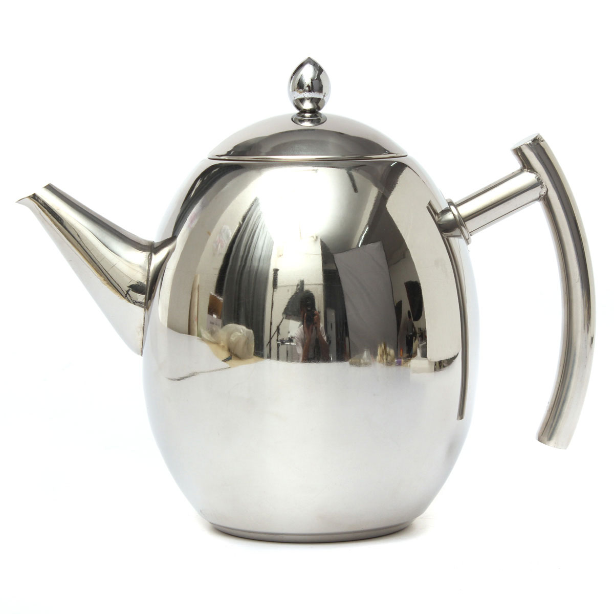 1500ml stainless steel teapot tea pot coffee with tea leaf filter infuser silver lazada malaysia - Tea pots with infuser ...