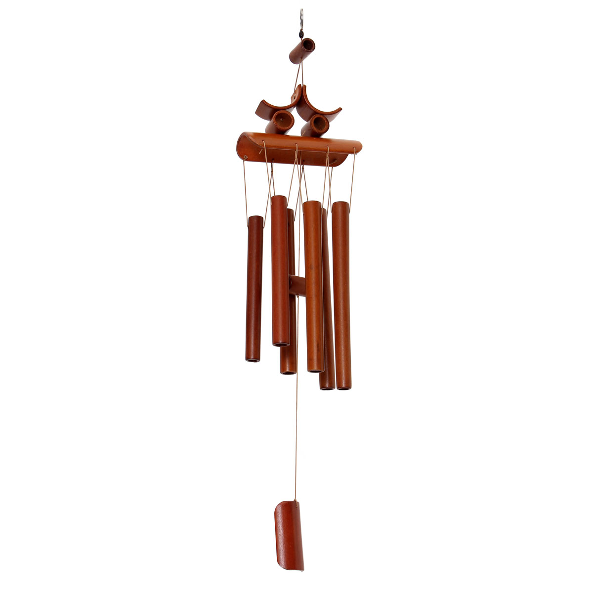 Bamboo wind chime windchime garden feng shui ornament for Home ornaments