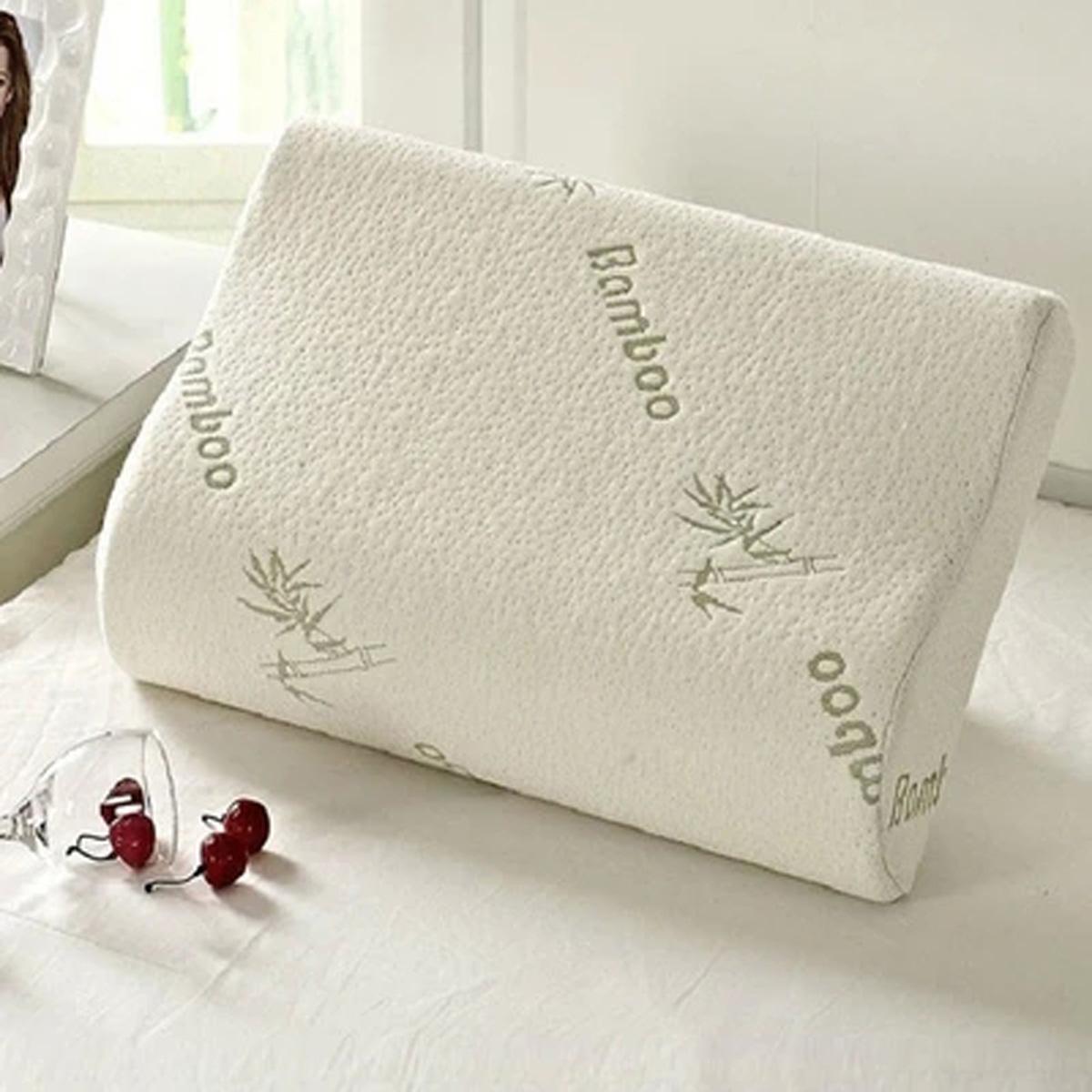 30x50 Sleep Bamboo Fiber Slow Rebound Memory Foam Pillow