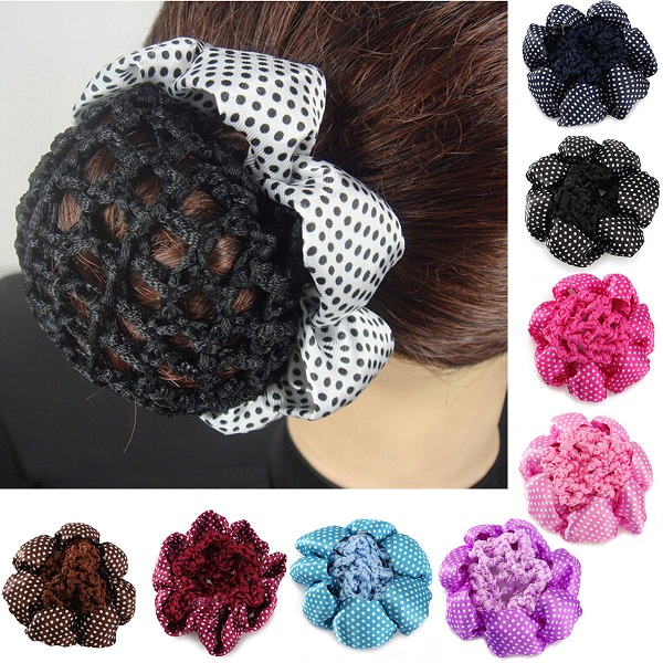 1pcs Girl Bun Cover Snood Ballet Dance Skating Hair Net Crochet ...