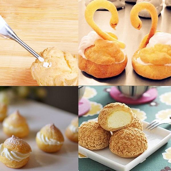 Long Piping Icing Nozzles Tip Pastry Bag Cake Cupcake ...