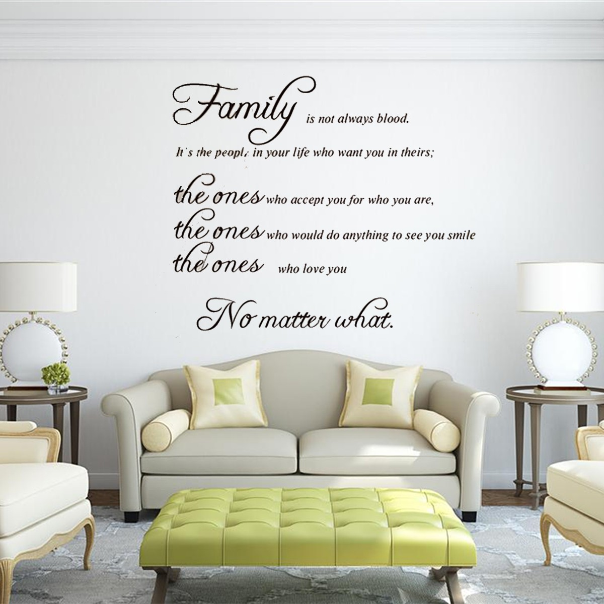 Removable family quote wall sticker decal mural diy living for Room decor lazada