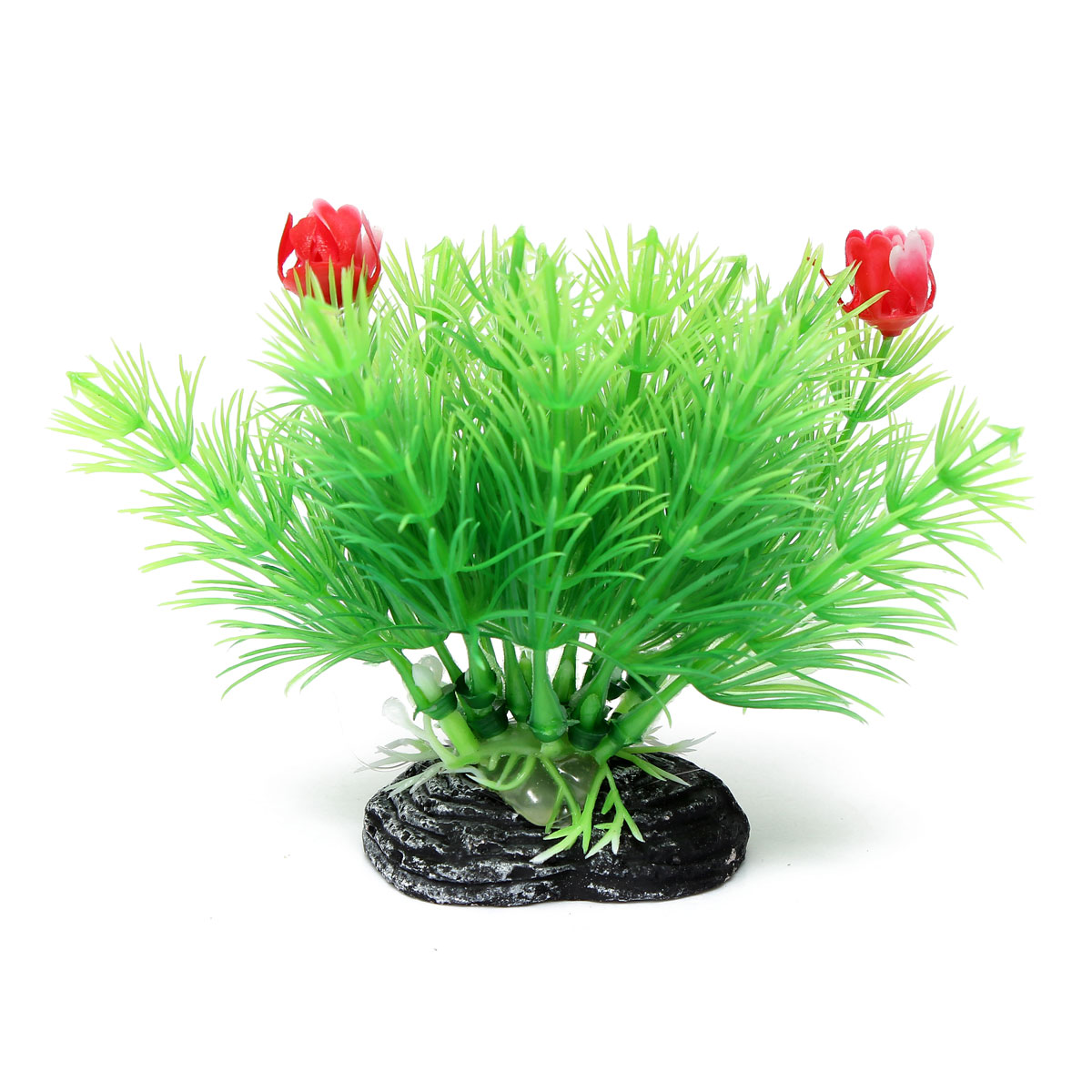 Aquarium fish tank artificial plant grass with two flowers for Artificial fish tank