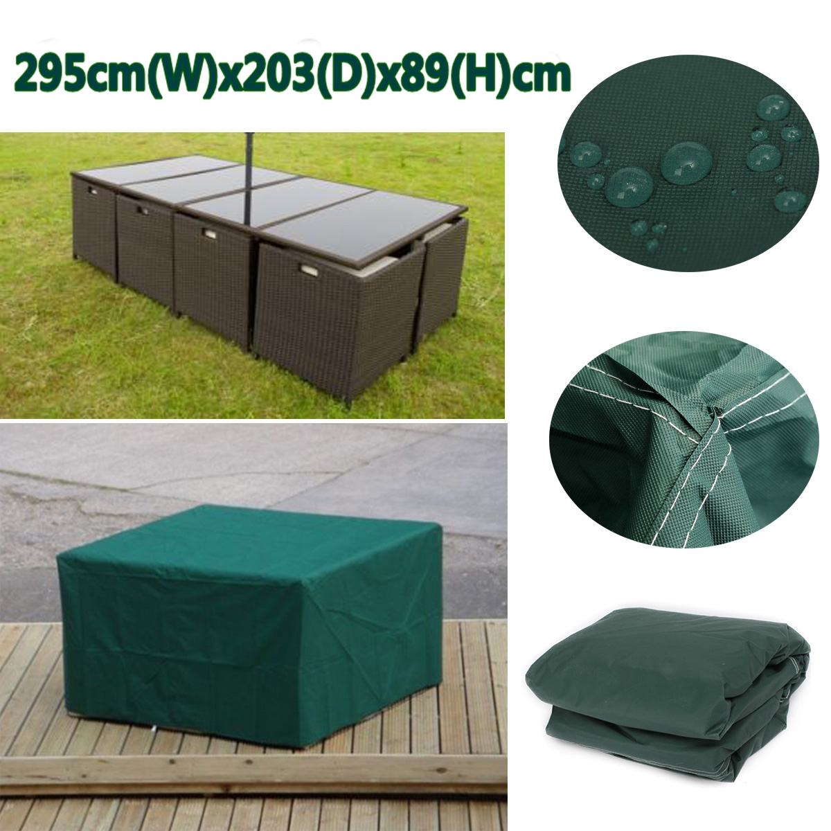 Outdoor Furniture Covers Singapore: 295x203x89 Outdoor Furniture Cover Waterproof Patio Table