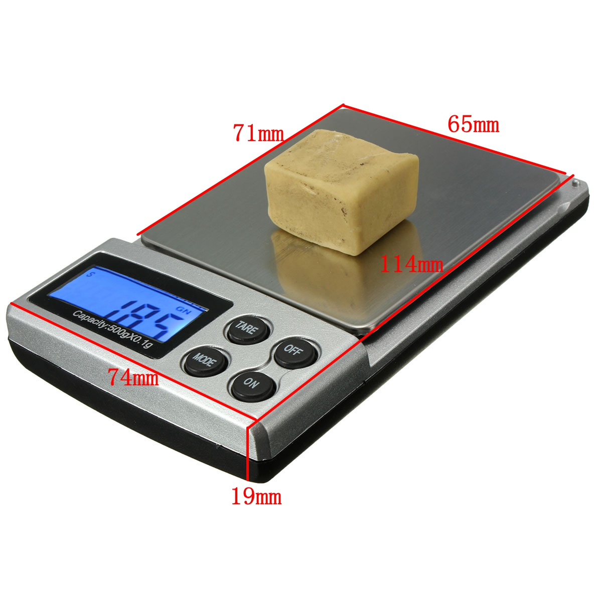 LCD Digital Electronic Pocket Gold Jewelry Weighing Scale