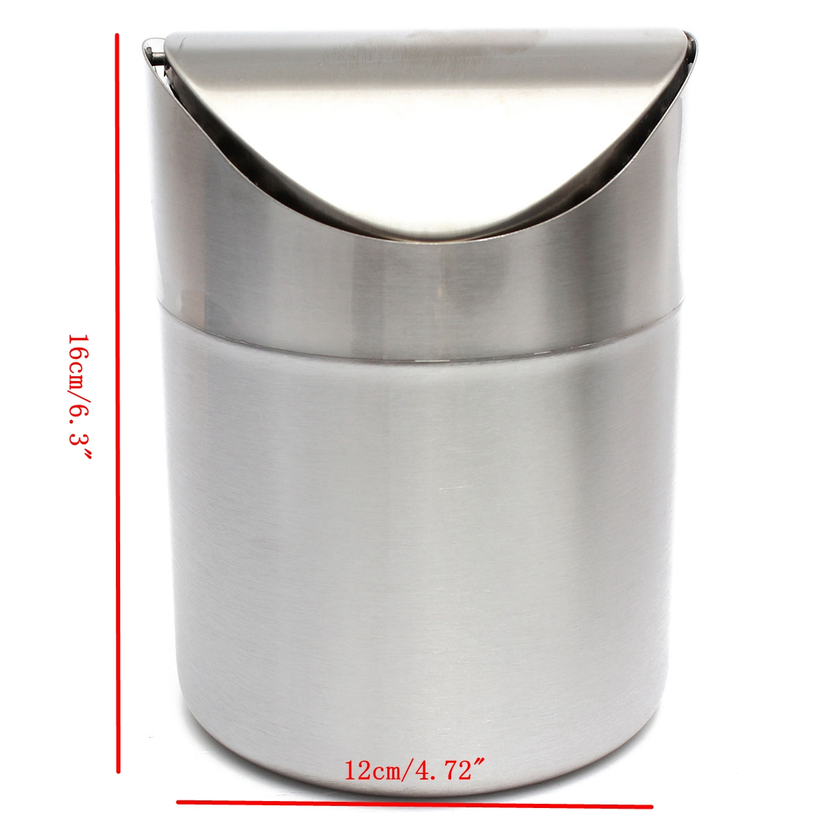 home kitchen table tidy stainless steel dustbin trash can