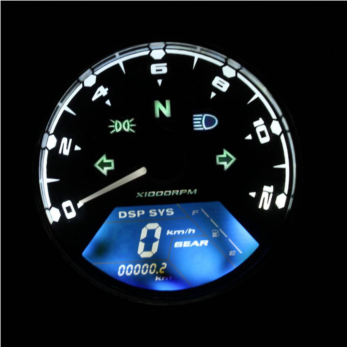 Motorcycle Lcd Digital Odometer Speedometer Motorbike F1 2
