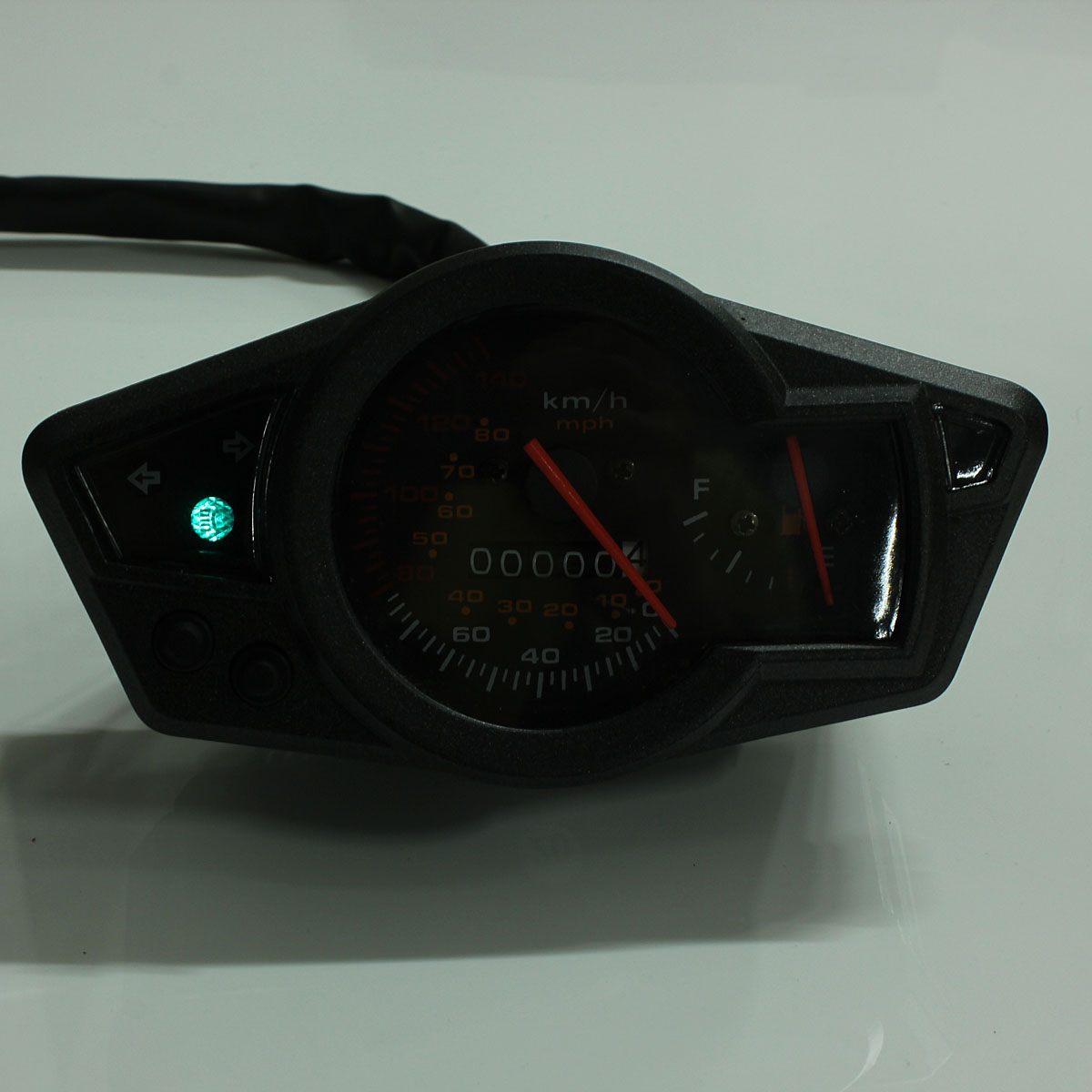 pointer mph kmh motorcycle odometer speedometer fuel level table gauge universal ebay. Black Bedroom Furniture Sets. Home Design Ideas