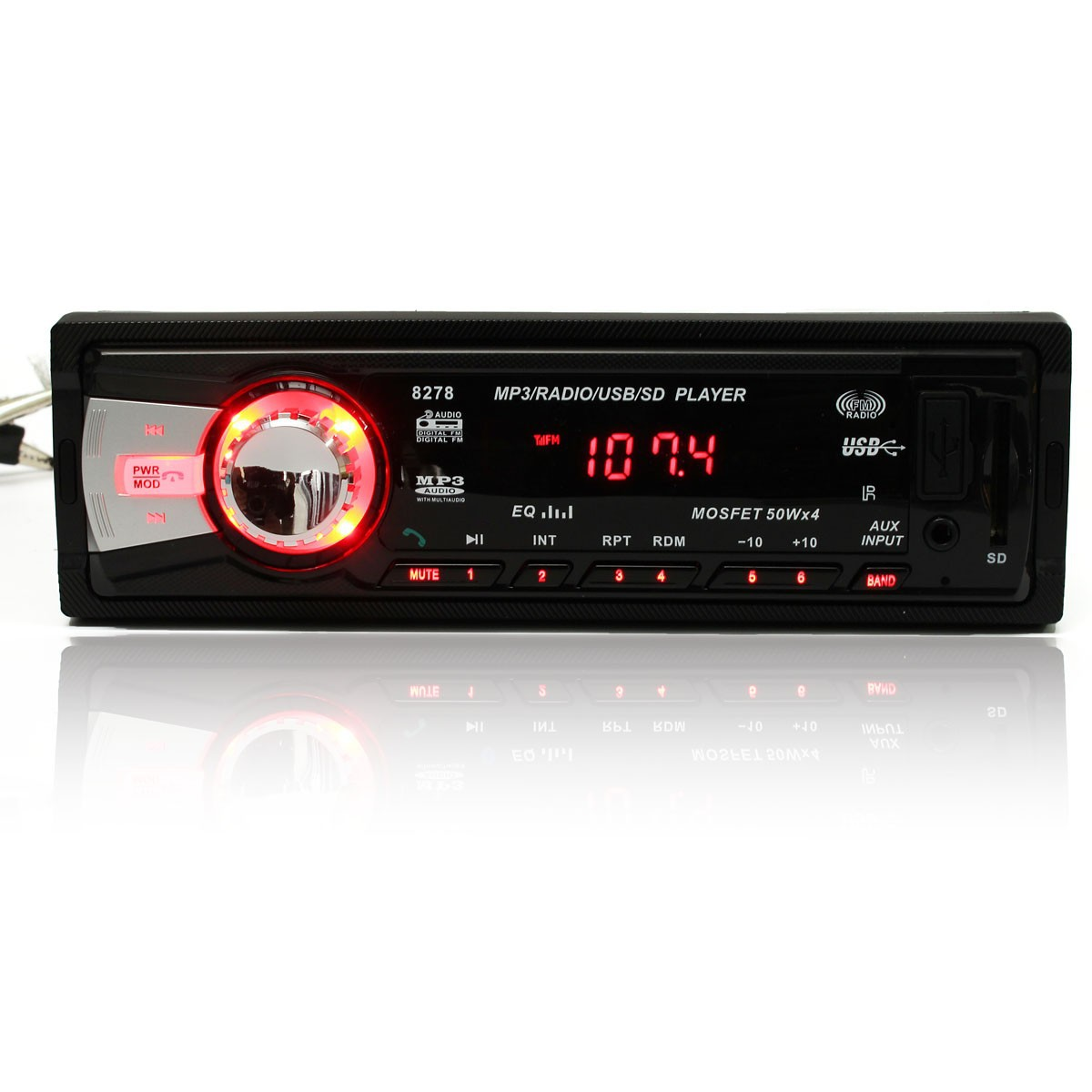 bluetooth car audio stereo 1din mp3 radio player am fm aux input receiver sd usb export. Black Bedroom Furniture Sets. Home Design Ideas