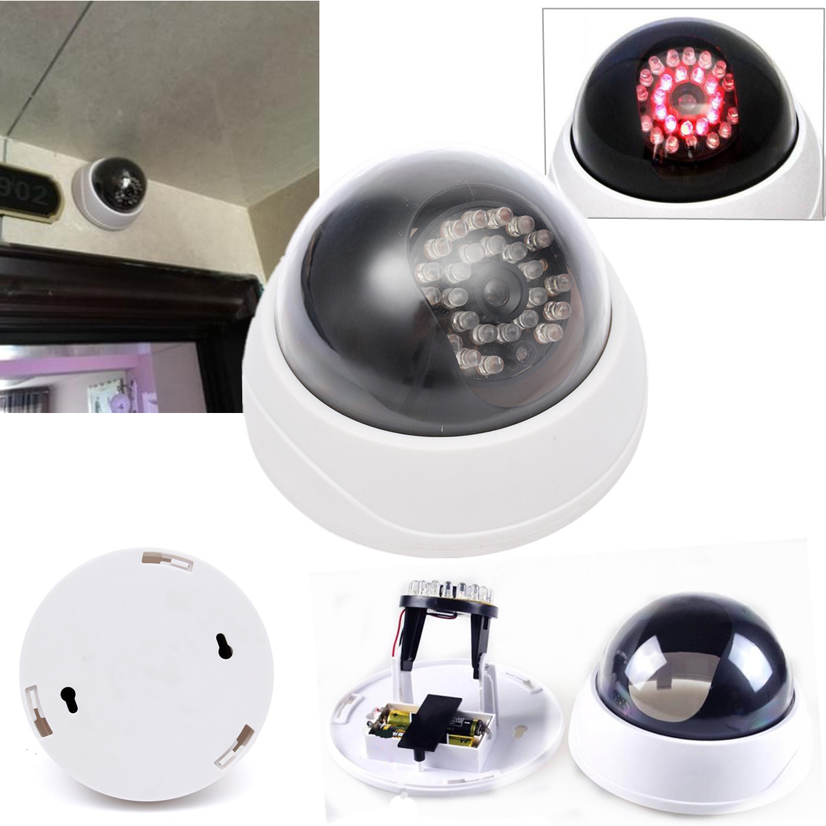 Top Quality Dummy Dome Cctv Security Camera Flashing Led