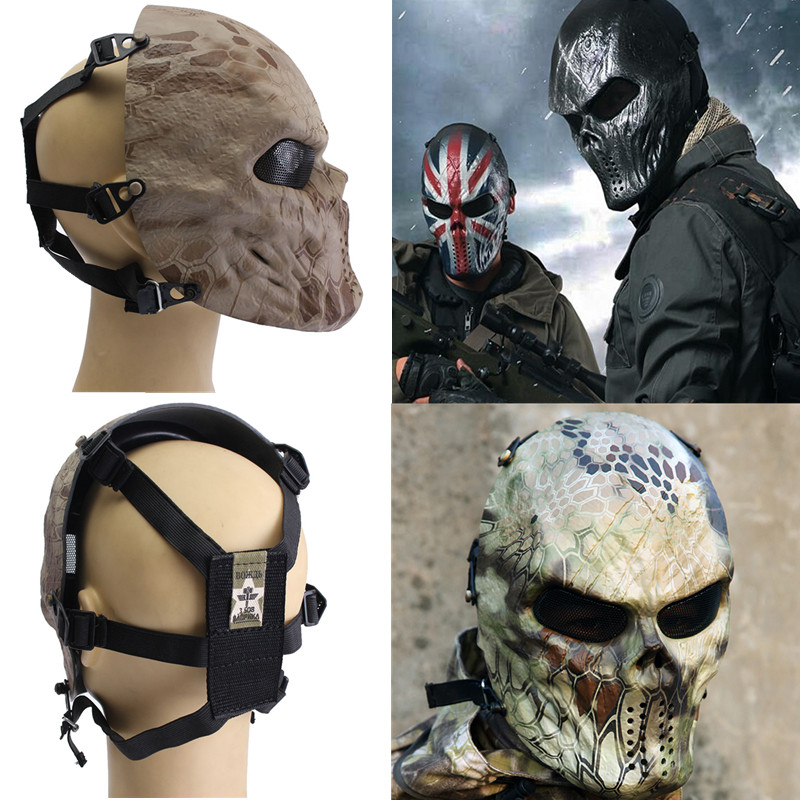 New-Tactical-Airsoft-Paintball-Skull-Outdoor-Protective ... Paintball Gear And Protection