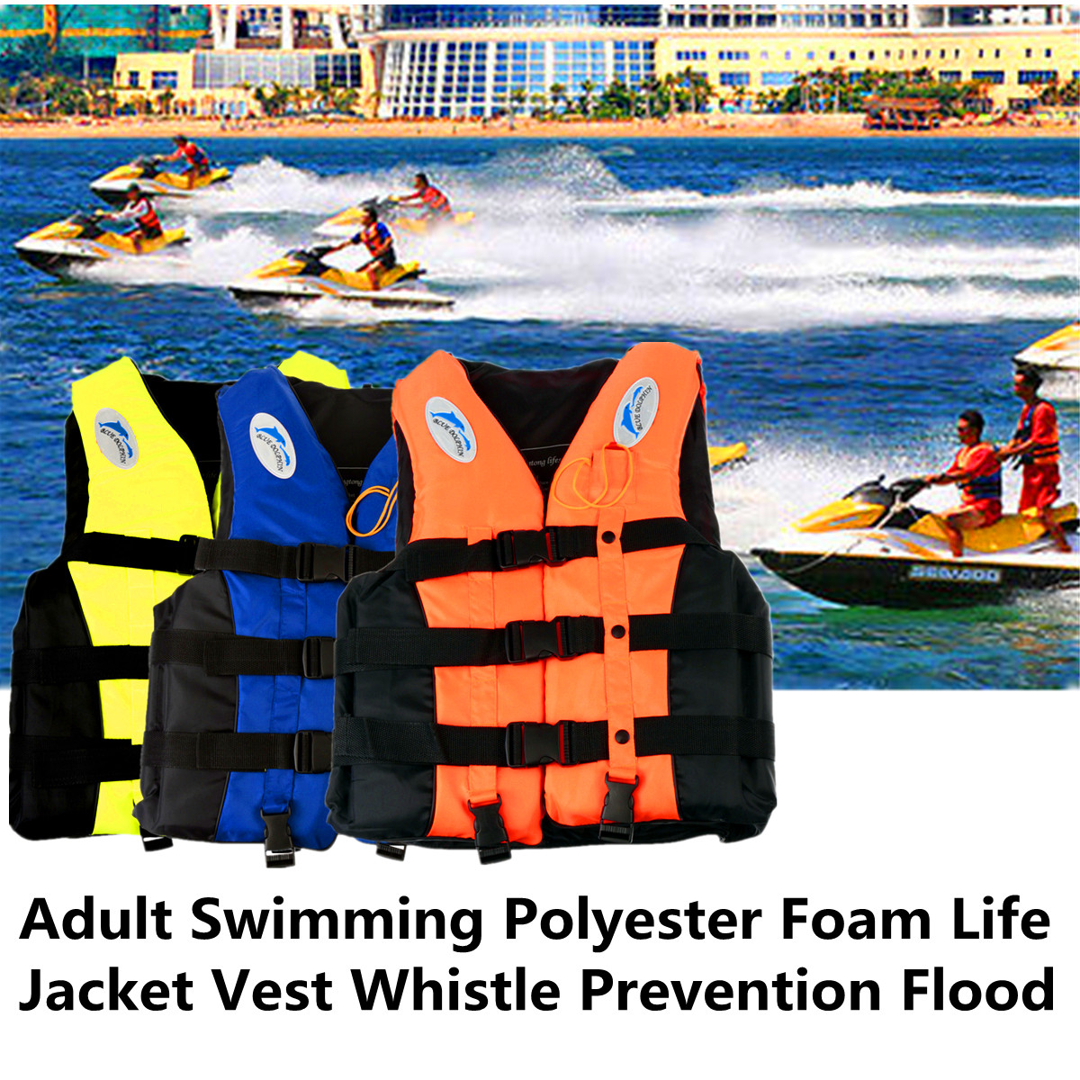 Mega adult swimming life jacket vest whistle xxl orange lazada ph