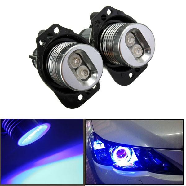 BMW E90 E91用12V LED  ヘッド ライト  エンジェル アイ  ハロー リング  電球ランプ  ブルー  ライト