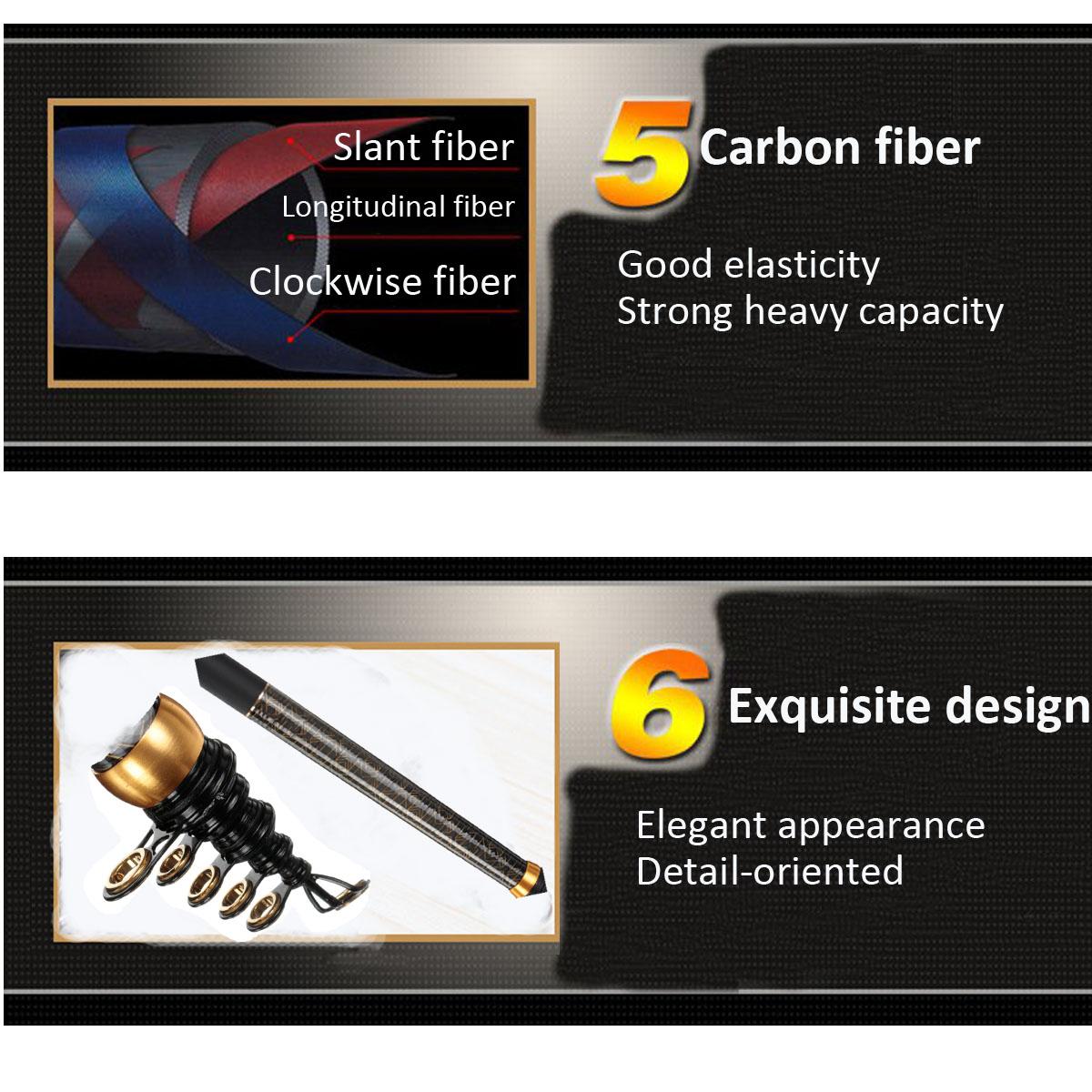 Harga Spesifikasi 5.4mCarbon Fiber Telescopic Spinning Casting Pole Saltwater Sea Fishing Rod Terbaru - Cek