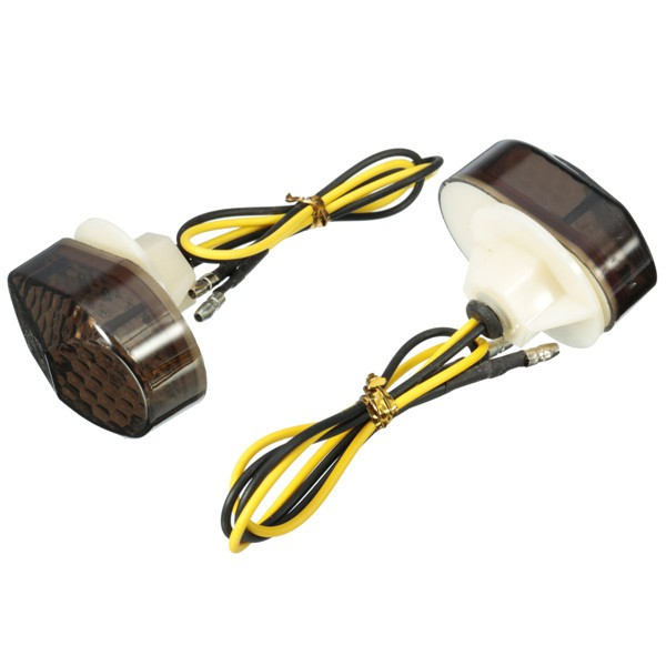 Motorcycle 15 LED Smoke Flush Mount Turn Signal Light