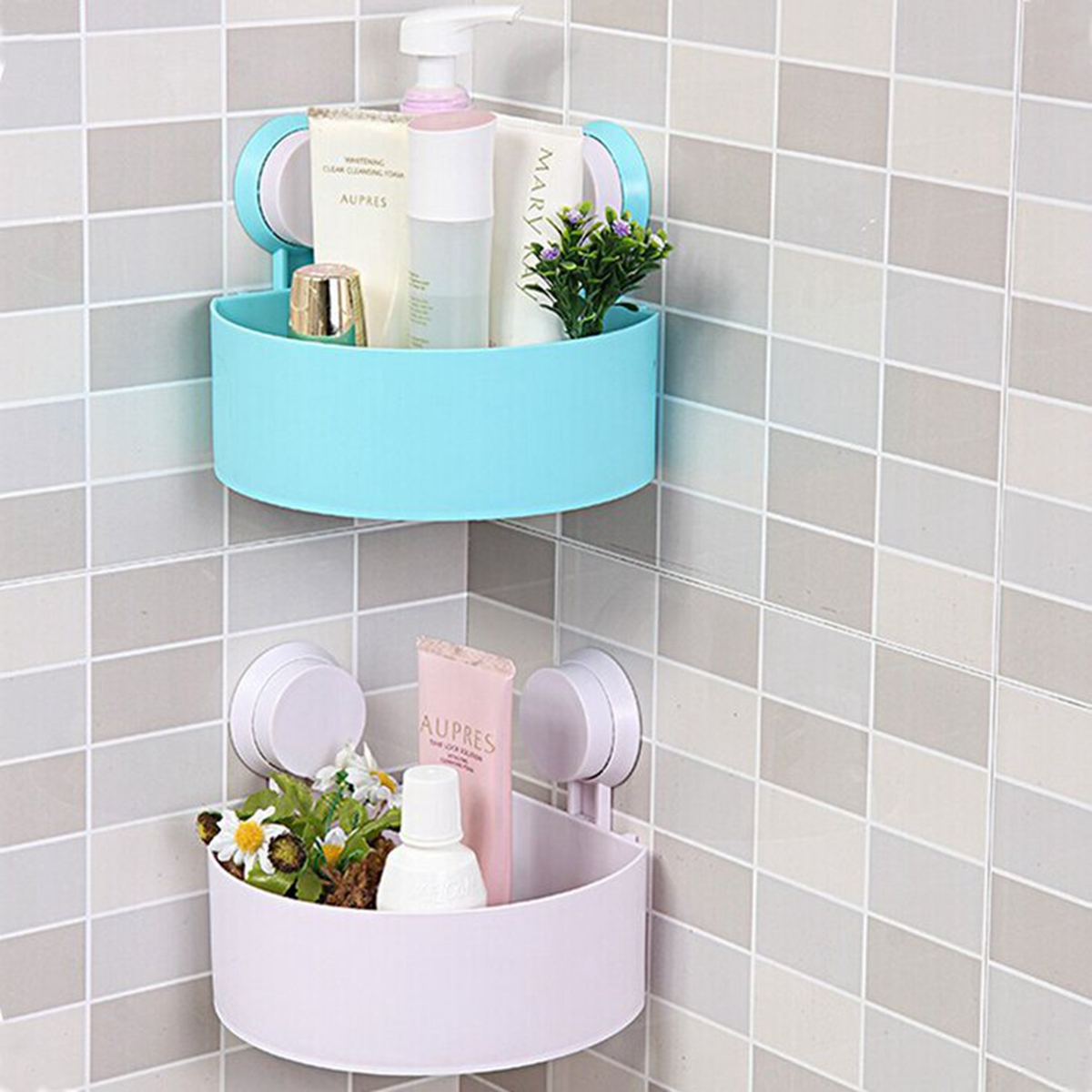 Bathroom Shower Corner Shelves: Bathroom Corner Shelf Rack Organizer Shower Storage Cup