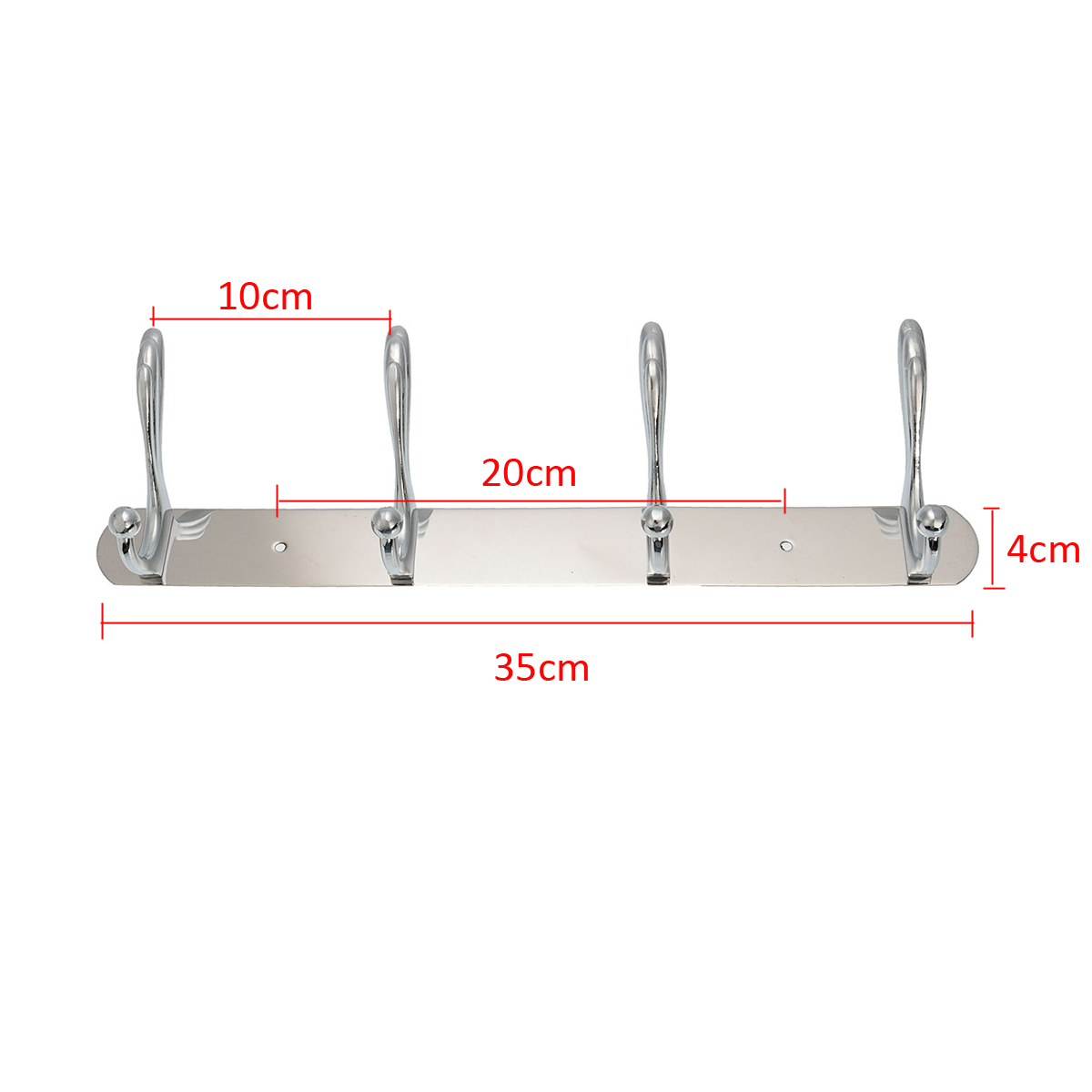 specifications 1 material stainless steel 2 size 4 hooks 3 width 4cm 4 ...