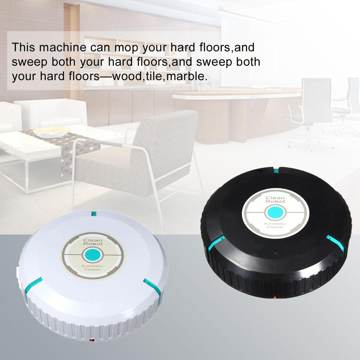Dust mop for wood floors - Home Auto Cleaner Robot Smart Mop Dust Cleaner Black Intl Lazada