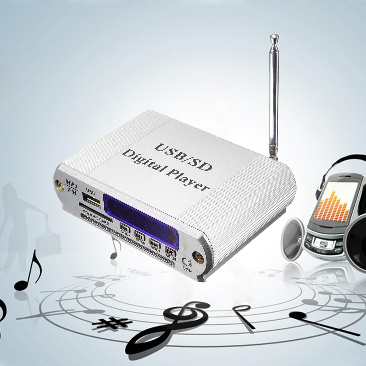 mini mp3 usb sd digital player fm radio remote control led. Black Bedroom Furniture Sets. Home Design Ideas