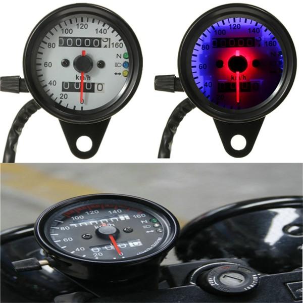 Motorcycle Dual Odometer Speedometer