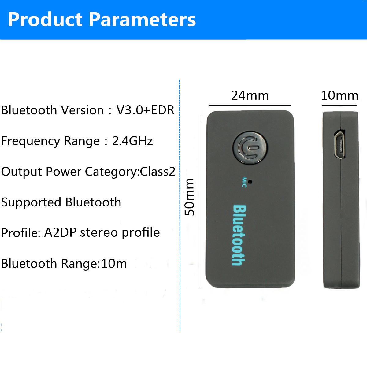 3 5mm wireless bluetooth v3 0 car home aux stereo audio receiver lazada ph