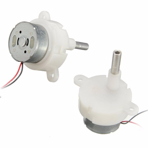 2pcs 3 12v 16rpm Worm Motor Reduction Gear Motor Electric