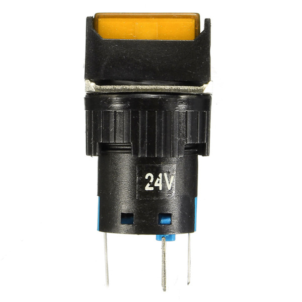 Mm dc v push button self lock switch square led light