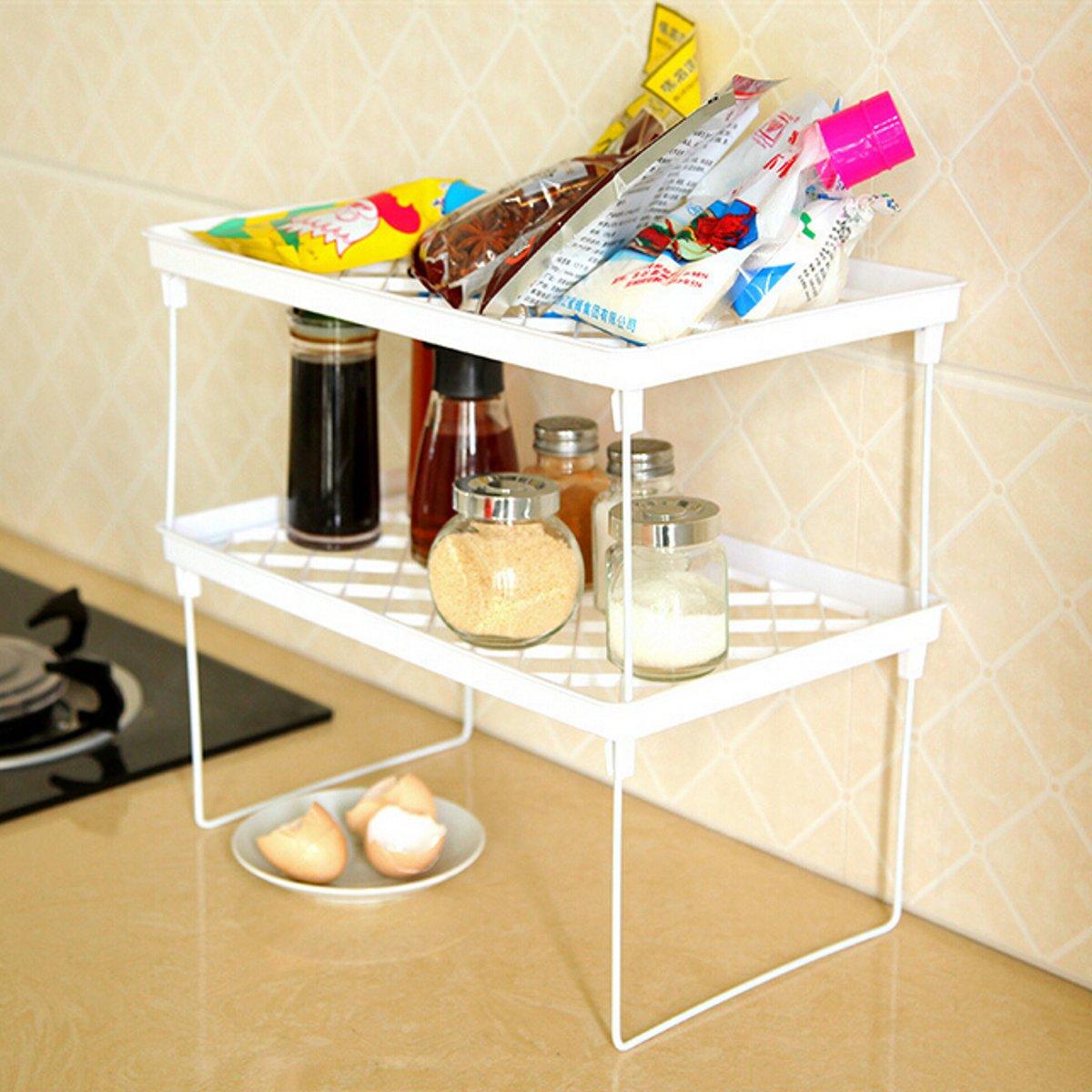 Beautiful Bathroom Kitchen Corner Storage Shelf Holder OrganizerBlue