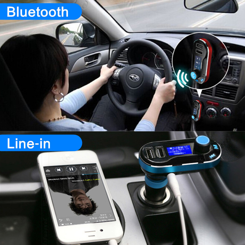 bluetooth radio lecteur mp3 autoradio transmetteur fm usb sd modulateur voiture rouge achat. Black Bedroom Furniture Sets. Home Design Ideas