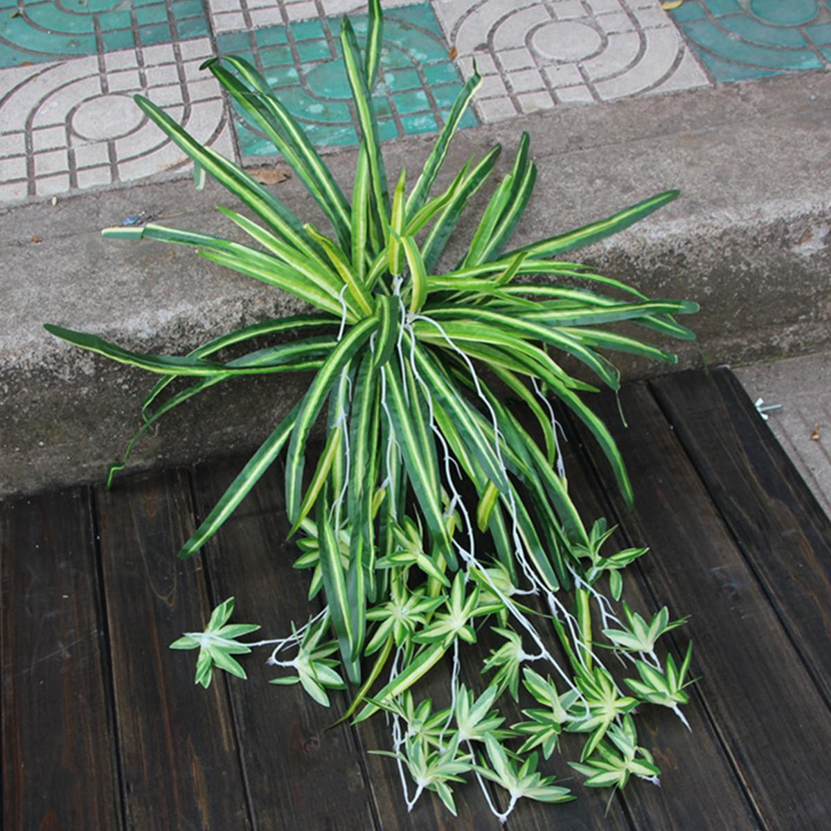 Artificial Silk Spider Plant Chlorophytum Comosum Faux