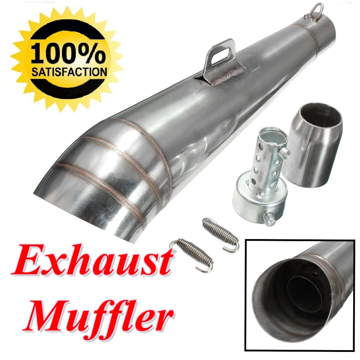 Universal motorcycle exhaust muffler pipe tips for