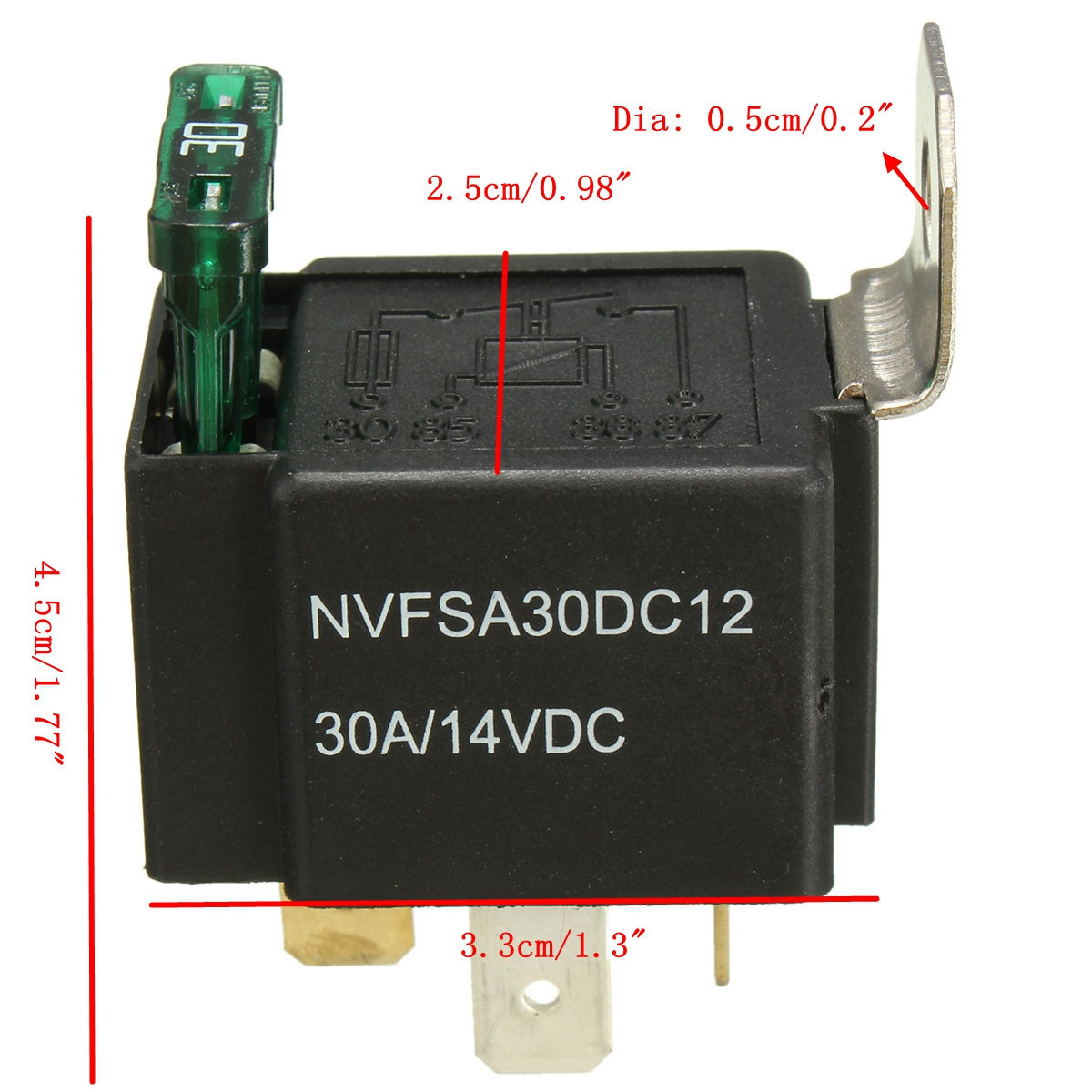 V A Car Pin Relay Normally Open Contacts Fused OnOff With - Relay normally open