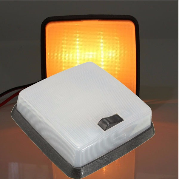12v car van vehicle interior roof light lamp square for 12v table lamp caravan