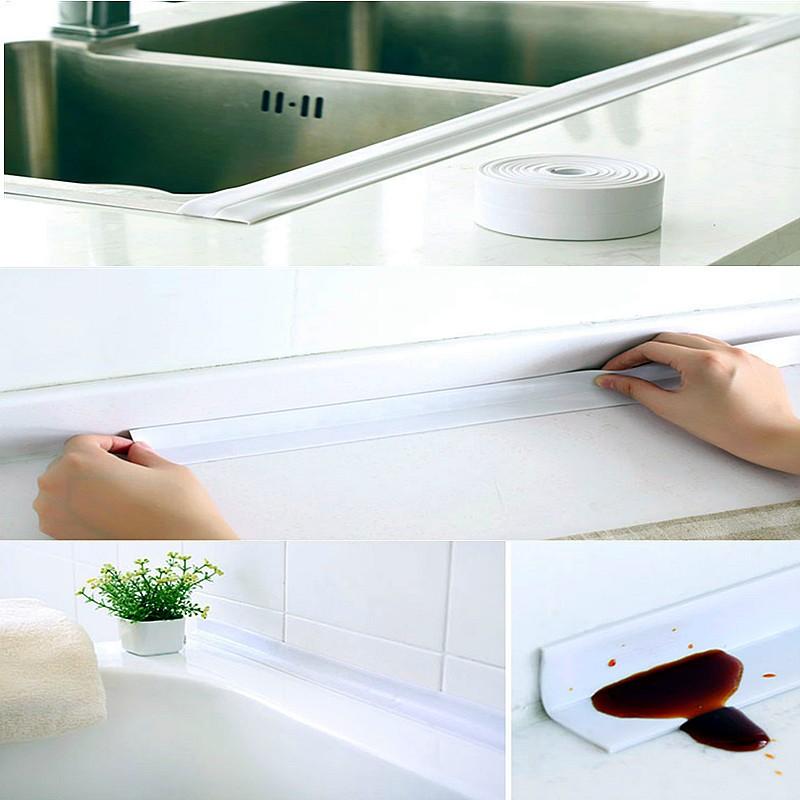Adhesive Sealing Strip Bath Wall White Sink Basin Edge Trim Kitchen 22mm X Lazada Malaysia