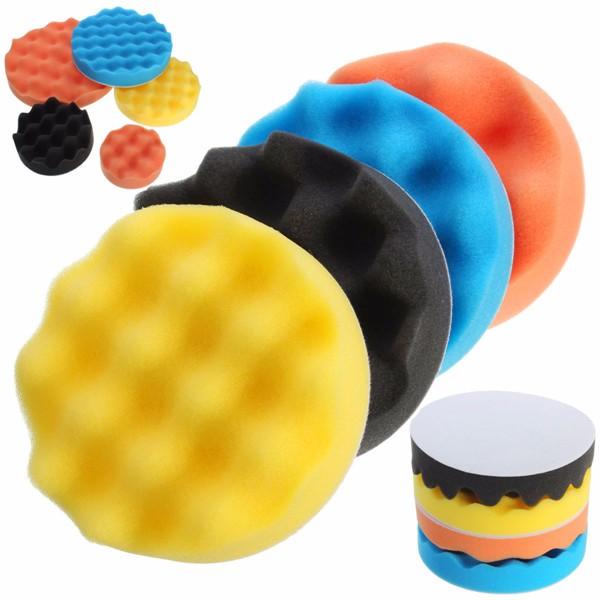 4pcs 3-7 Inch Buffing Polishing Sponge Pads Kit For Car