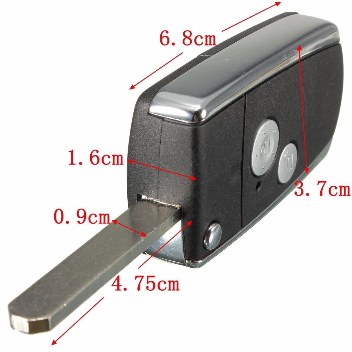 1Pc 2 Button Remote Flip Key Shell For Honda Civic CRV