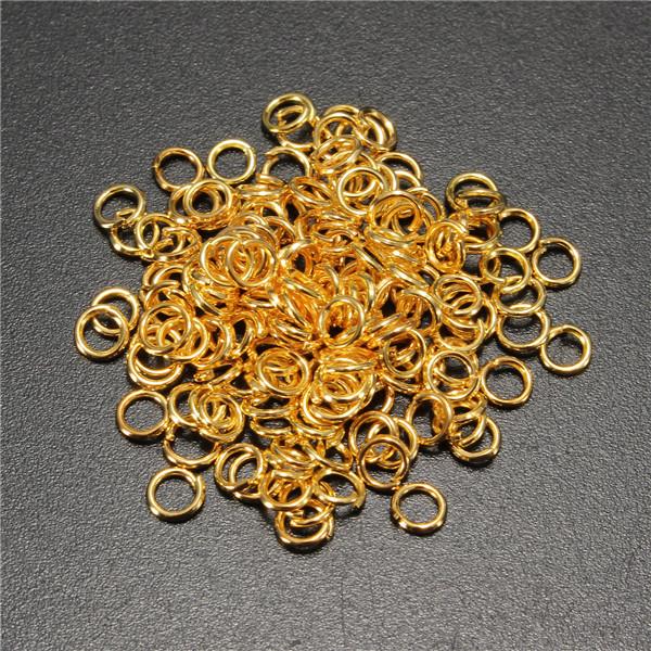 100 قطع 5 ملليمتر الانتقال خواتم مفتوحة كونكتورس دائرة النتائج المعدنية دي الاكسسوارات