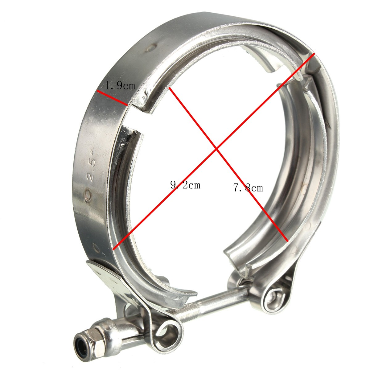 2.5 STAINLESS V-BAND FLANGE and CLAMP KIT FOR TURBO ...