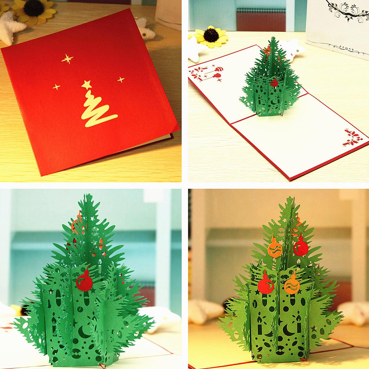 Christmas tree birthday handmade 3d greeting card for 3d xmas cards to make