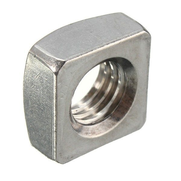 304 Stainless Steel Square Nut Metric Thread Fastener M4 M5 M6 M8 M10