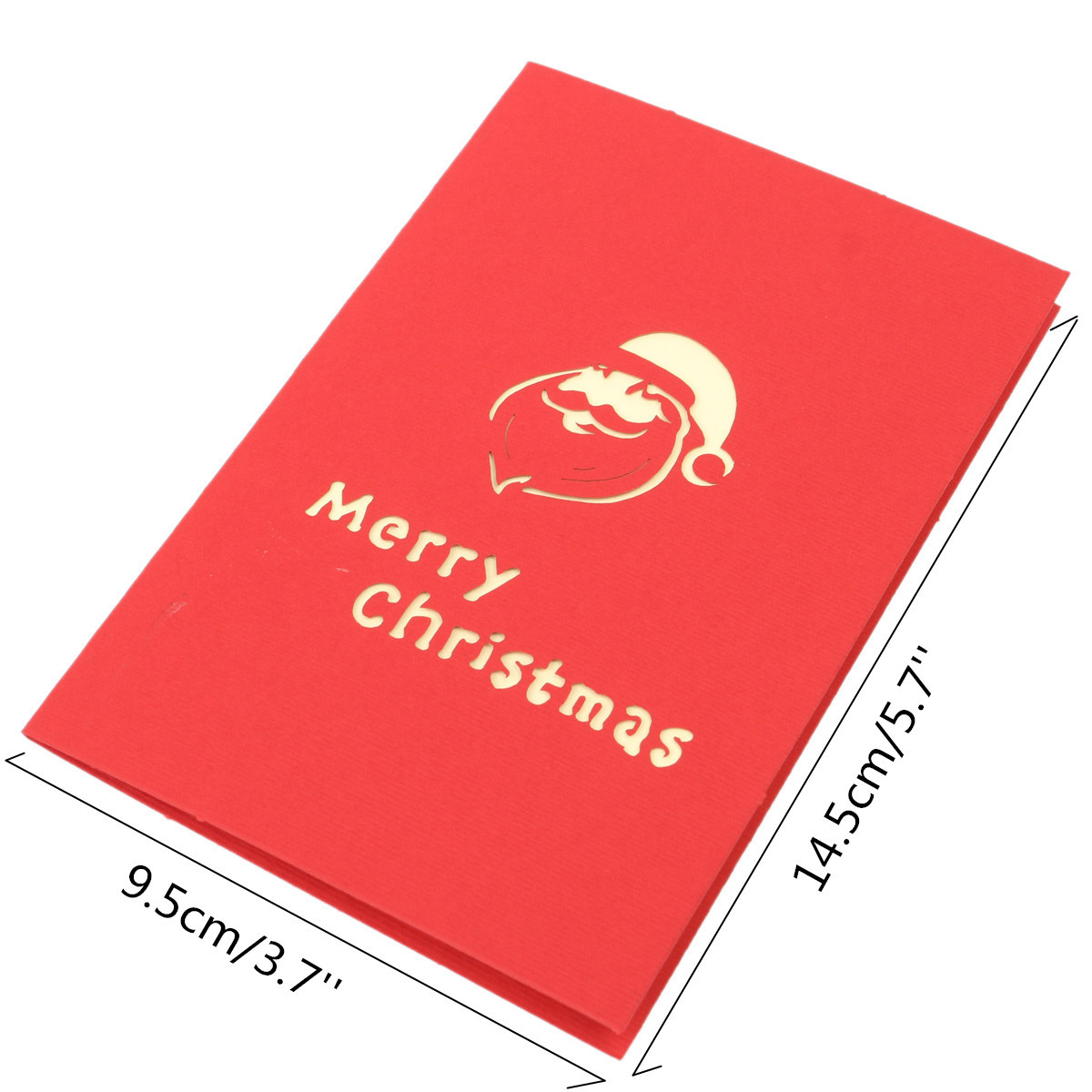 merry christmas 3d origami greeting card invitation card