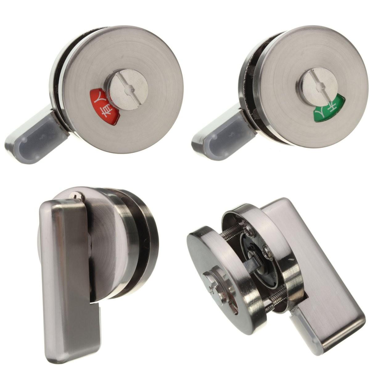 Bathroom Indicator Bolt Disabled Facility Toilet Door Lock Furniture Handle T