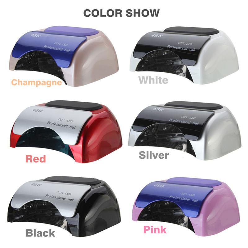 Hot 48W Pro CCFL & LED Nail Cure Lamp UV Gel Dryer Light ...