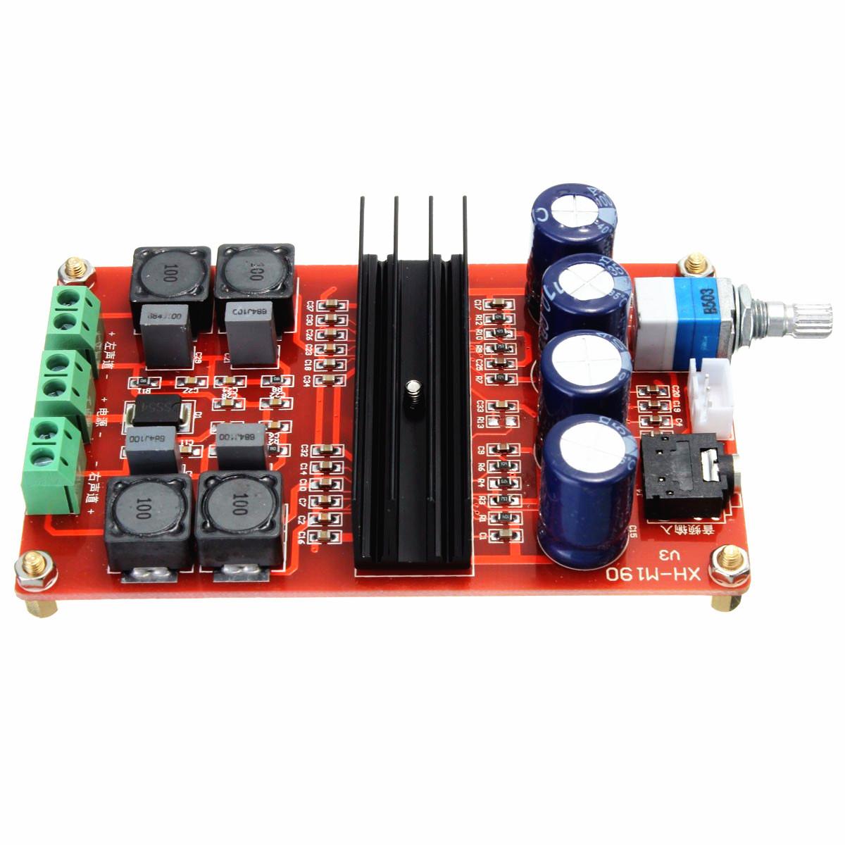 W v dual channel digital audio amplifier