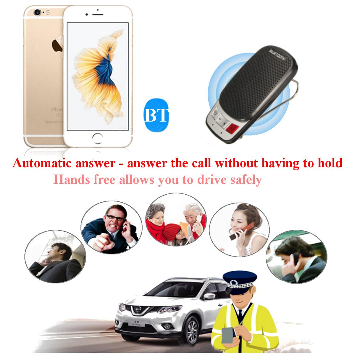 sun visor bluetooth handsfree car kit user manual
