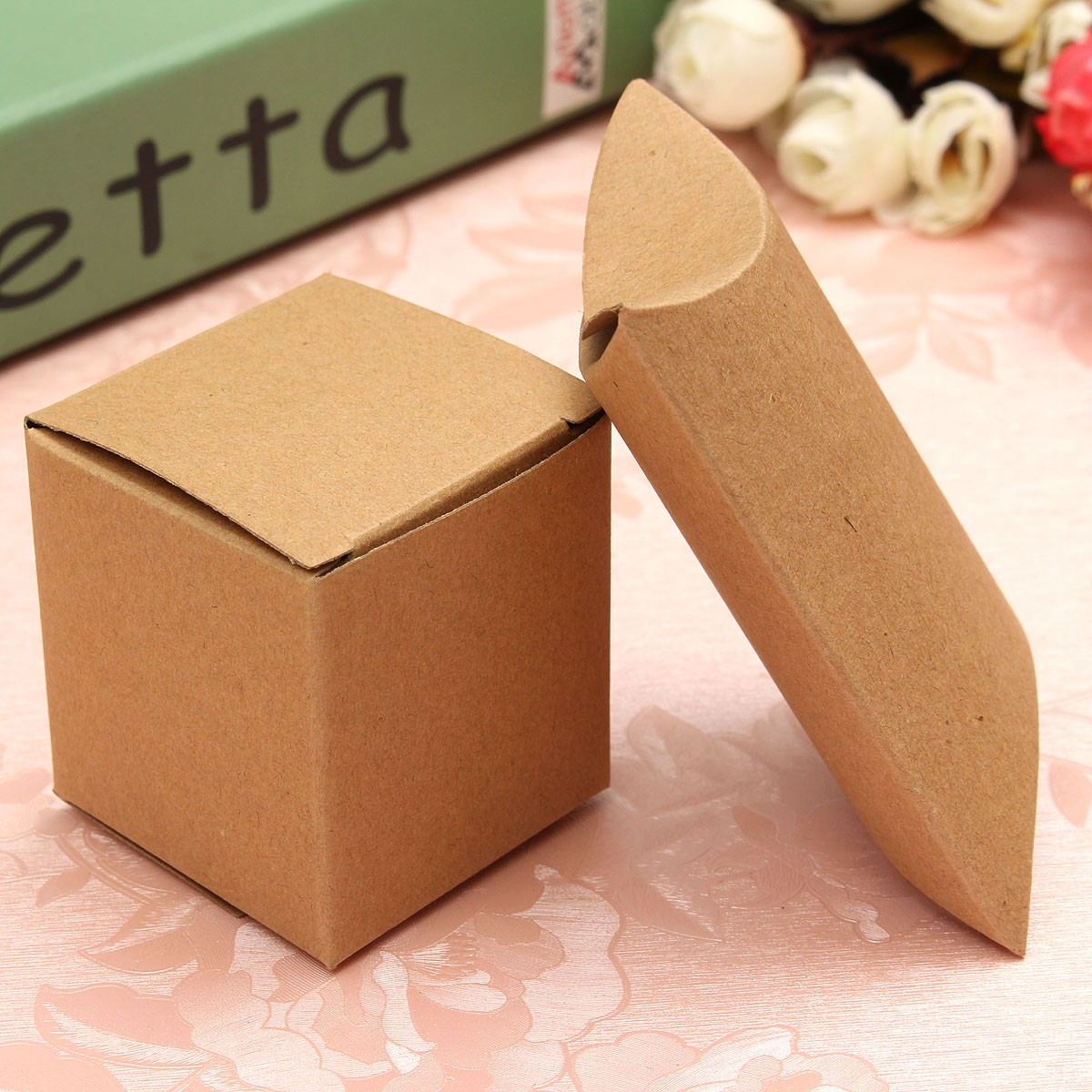 ... 12 Brown Card Gift Pillow Box Boxes Wedding FavourWholesale Party Box
